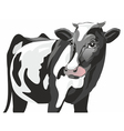 friesian cow vector image