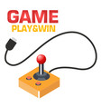 game play win retro joystick background i vector image vector image
