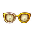 glasses horn-rimmed fashion accessory color vector image