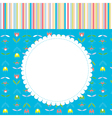 Greeting card for baby or child with pattern vector image vector image