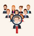 group of people human resources vector image vector image
