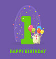 happy birthday 1 years banner template birthday vector image vector image