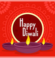 happy divali concept background flat style vector image