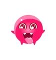 Happy Round Character Emoji vector image