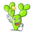 have an idea cartoon the prickly pear opuntia vector image
