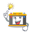 have an idea miniature accomulator in the a shape vector image vector image