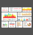 infographics schemes information in visual form vector image vector image