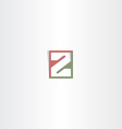 letter z logo logotype icon vector image vector image