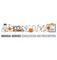 medical service and prescription process vector image