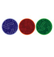 micro bacterium circles vector image vector image