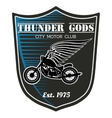 motorcycle club label - Thunder Gods vector image