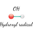 OH hydroxyl radical vector image vector image
