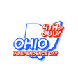 ohio state 4th july independence day with map vector image vector image