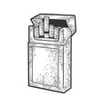 pack cigarettes sketch vector image