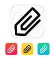 Paperclip icon vector image vector image