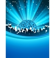 party poster with disco ball eps 8 vector image