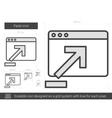 Paste line icon vector image vector image
