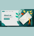 people flying around big mail letter email vector image