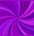 purple hypnotic abstract spiral ray burst stripe vector image vector image