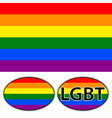 Rainbow multi colored flag vector image vector image