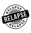 relapse rubber stamp vector image vector image