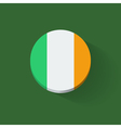 round icon with flag ireland vector image vector image