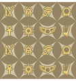 Seamless background with Egyptian symbols vector image vector image