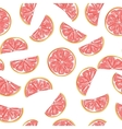 Seamless grapefruit pattern vector image