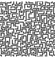 seamless labyrinth pattern memphis group style vector image