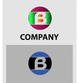 Set of letter B logo icons design template element vector image