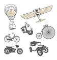 set retro transport vector image vector image