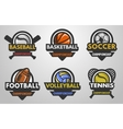 set sports logos vector image vector image