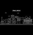 sicily silhouette skyline italy - sicily vector image