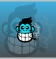 smoke monkey abstract logo vector image vector image