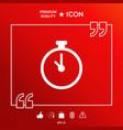 stopwatch symbol icon vector image vector image