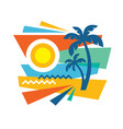 summer tropical vacation - concept advertising vector image vector image
