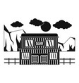 texas saloon icon simple style vector image