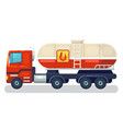 truck with tank and ladder heavy industrial vector image