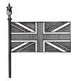 union national flag of great britain vintage vector image vector image