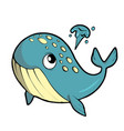 whale on white background cute marine animal vector image