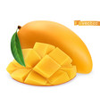 yellow mango fresh fruit 3d realistic icon vector image vector image