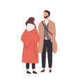young stylish man and woman standing and talking vector image vector image
