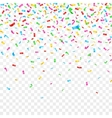 Falling confetti isolated on checkered background vector image