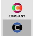 Set of letter C logo icons design template element vector image