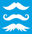 moustaches icon white vector image