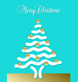 abstract merry christmas tree vector image vector image