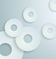 Abstract White Paper Circles Background vector image