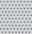 Airplane background pattern vector image vector image