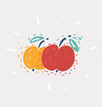 apple couple on white vector image vector image