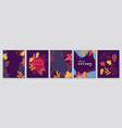 autumn backgrounds banners cards abstract vector image